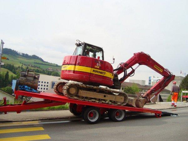 Rimorchio Pianale SP14TR65 Inclinabile Posteriore - 120-140 Q.li